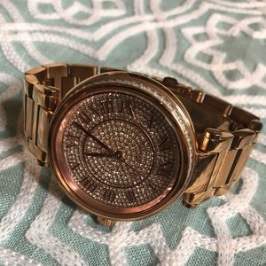 MK MICHAEL KORS rose gold watch